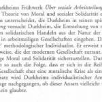 Durkheims individualistische Theorie der sozialen Arbeitsteilung